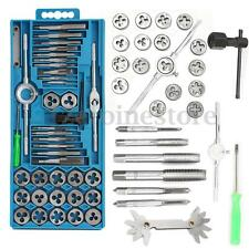 40Pcs Metal Metric Tap Wrench and Die Pro Set M3-M12 Nut Bolt Alloy Hand Tools