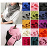 Womens Winter Warm Cashmere Silk Solid Long Pashmina Lovely Shawl Wrap Scarf