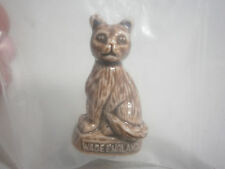 WADE Figurine England from Red Rose Tea Pet Shop Series Brown Cat Sitting NEW