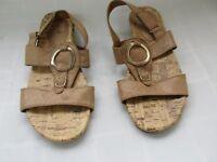 New! Women's Jaclyn Smith Ariel Slingback Sandal Shoes Style 50170 Tan 48D pc