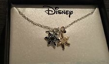 "in a Silver plating Silver/Gold 18"" Nwt Disney 6mm Frozen Snowflake Necklace"