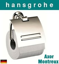 Hansgrohe Axor Montreux 42036830 Toilet Paper Holder w/Cover Polished Nickel NIB