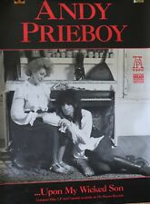 """Andy Prieboy """".upon my wicked son"""" Promo poster 1990"""