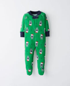 Hanna Andersson Boys Robot Pajamas One Piece Footed 85 90 NWT $42.00