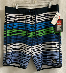 Men's Quiksilver Board Shorts Size 36 Stretch New With Tags