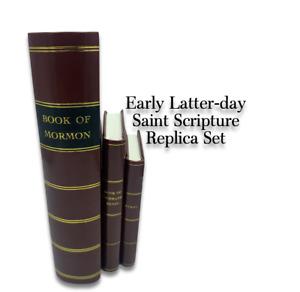 1830 Book of Mormon 1833 Book of Commandments 1835 Sacred Hymns replica set