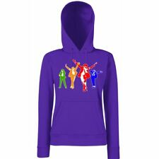 Womens Printed Hoodies-Michael Jackson Coloured Silhoutte-Hooded Sweatshirt
