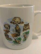French Nem Tours Coffee Mug National Park of France Owls Birds