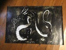 Dragon tattoo vinyl poster print Man cave banner bar flag mancave bundy rum JD