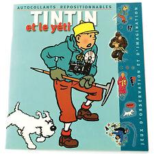 TINTIN et le Yéti - Autocollants Adesivi Stickers - MOULINSART 2002 HERGE TIN