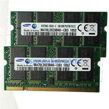 Samsung 2GB 2X1gb pc2700 333mhz sodimm Notebook Laptop memory ram Low Density