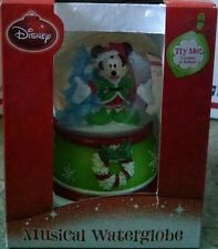 Disney Mickey Mouse Holiday Musical Waterglobe Snowglobe Plays Jingle Bells