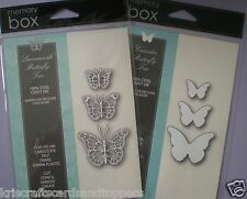 Memory Box LEAVENWORTH & CASCADIA BUTTERFLY TRIO  Set of 6 Dies ~ NEW