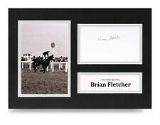 Brian Fletcher Signed A4 Photo Display Red Rum Autograph Memorabilia + COA