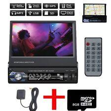 "7"" Car Stereo Audio MIT GPS NAVIGATOR BLUETOOTH BILDSCHIRM USB SD MP5 1DIN +MAP"
