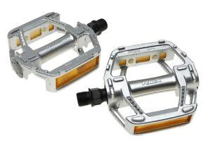 "MKS RMX  Old School BMX MTB Platform Pedal 9/16"" Silver"
