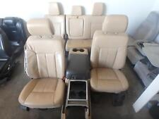 FORD F250 F350 FRONT & REAR SEAT SET TAN LEATHER HEATED 09 10 11 12 13 14 15 16