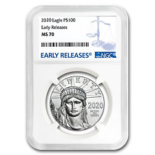 2020 1 oz Platinum American Eagle Ms-70 Ngc (Early Releases) - Sku#199412
