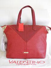 VALENTINO HANDBAGS borsa in pelle pu Piramide Rosso,42x31cm,manici+tracolla €110