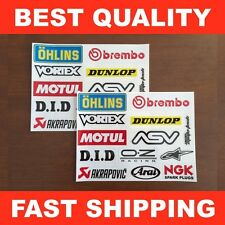 Sport Bike Sponsor Decals Stickers ★ 24 PACK ★ Ohlins Brembo Motul DID Arai NGK