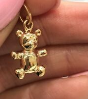 NEW 9ct Yellow Gold Lady bug Charm 375 Lucky Pendant 9K Red Enamel 9KT Ladybird