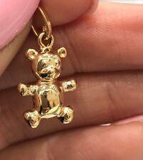NEW 9ct Yellow Gold Teddy Bear Charm 375 Pendant 9K Free Shipping Option 9KT