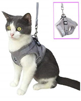 Anlitent Soft Mesh No Pull Cat Harness and Lead Set for Walking, Escape Proof