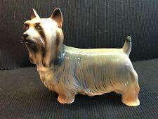 Porcelain Yorkshire Terrier Yorkie Dog Figure Made In England