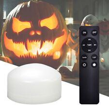 1 Piece Flameless Candles Halloween Pumpkin Lights with Timer Battery Operated