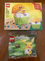LEGO Easter Egg (40371) & Easter Bunny (30550) New in Hand Limited Special Gift