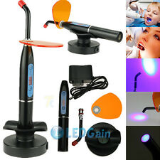 Black Dentist Dental Wireless Cordless LED Curing Light Lamp 5W 2000MW  USA