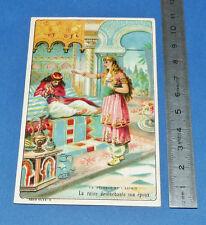 CHROMO 1900-1915 GRANDE IMAGE BON-POINT ECOLE CONTE LE PECHEUR ET L'ESPRIT REINE