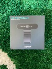 Logitech Brio 4K Ultra HD Pro Webcam Model 960-001178 Black NEW - (IN HAND)