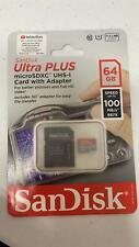 NEW SanDisk Ultra 64GB Micro SD Memory Card Class10 Flash JY Full HD Video