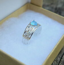 Hawaiian Sterling Silver Scrolling See Through Heart Blue Cz Toe Ring Tr1143 Iw