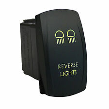 Rocker switch 626G 12V REVERSE LIGHTS Laser LED green marine boat