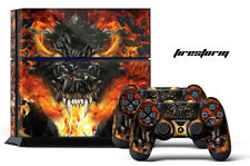 Designer Skin for PS4 Playstation 4 Console System & 2 Controller Decals FIRE ST