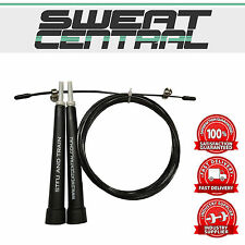 CROSSFIT SPEED CABLE WIRE SKIPPING JUMP ROPE ADJUSTABLE LENGTH CARDIO HEART MMA