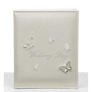 "Wedding Gift - Butterfly Design Wedding Photo Album Holds 24 5"" x 7"" Photographs"