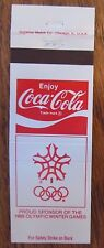 COCA-COLA - COKE & 1988 OLYMPIC WINTER GAMES CALGARY (SODA POP SOFT DRINK) -JL31