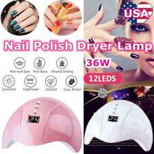 NEW 36W LED UV Nail Polish Dryer Lamp Professional Acrylic Curing Light USA