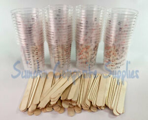 50 X Resin /  Paint Mixing Cups ,100 mixing sticks,