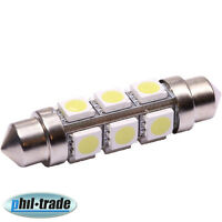 SMD LED Soffitte Lampe 360° C10W 42mm 12V Xenon weiss hell Innenraum Beleuchtung