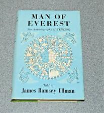 MAN OF EVEREST - TENZING NORGAY - 1ST EDITION 1956 SIGNED HARDBACK *RARE*