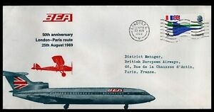GB 1969 BEA 50 Anniversary London - Paris Cover