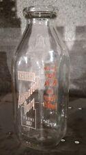 Vintage Central Adirondack Dairy Clear Glass Milk Bottle, Phone 98J, One Quart
