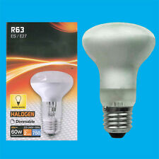 1x 48W (=60W) Halogen R63 Dimmable Pearl Reflector Spot Light Lamp ES E27 Bulb