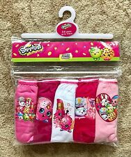Shopkins Girls Underpants / Knickers x 5 - 100% Cotton - Age 3 - 4 New Sealed