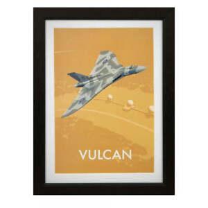 RAF Vulcan framed art print Military Heritage Royal Air Forces Association