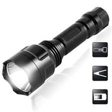 6000LM  Q5 LED C8 Portable Zoomable Flashlight 18650 Torch Lamp Light FY
